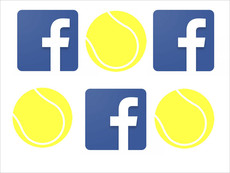 Facebook-Logo mit Ball