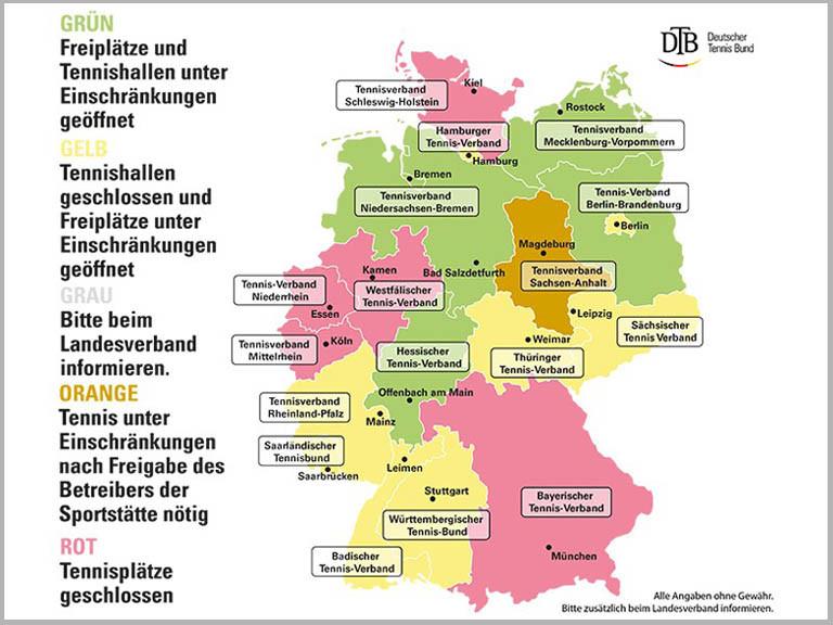 Deutschlandkarte Corona