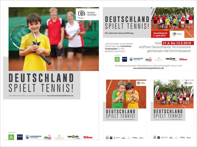 Werbemittel Deutschland spielt Tennis! 2018 - Deutscher Tennis Bund